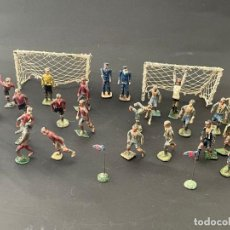 Coleccionismo deportivo: LOTE DE JUGADORES DE FUTBOL DEL ESPAÑOL Y EL FUTBOL CLUB BARCELONA EN PLOMO - CAPEL. Lote 241284520