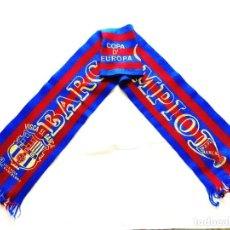 Coleccionismo deportivo: BUFANDA FC BARCELONA FINAL COPA DE EUROPA 92 WEMBLEY. Lote 244473500