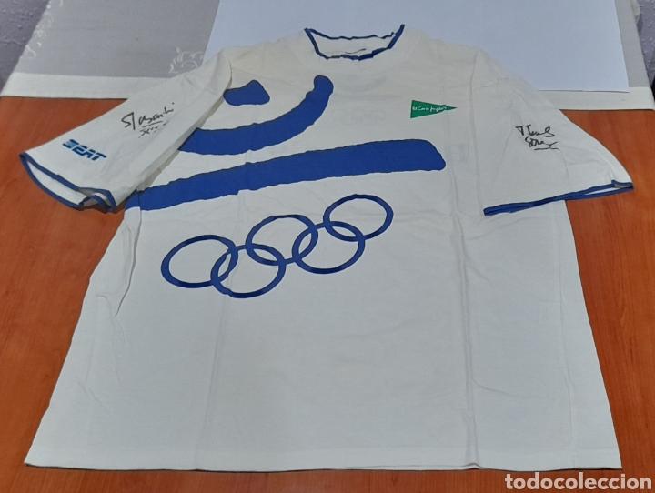 Coleccionismo deportivo: Camiseta Barcelona 92 con 2 Autógrafos. Ver fotos - Foto 3 - 252212225