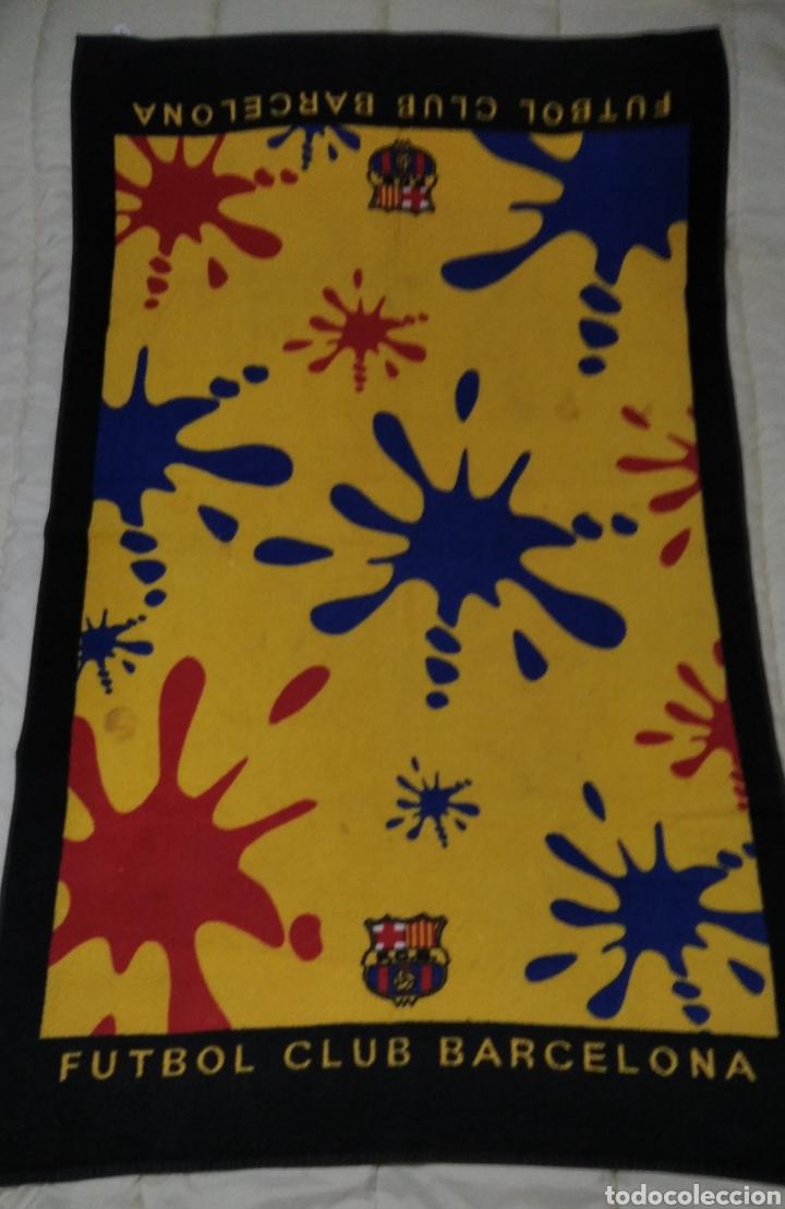 GRAN TOALLA FUTBOL CLUB BARCELONA (Coleccionismo Deportivo - Ropa y Complementos - Complementos deportes)