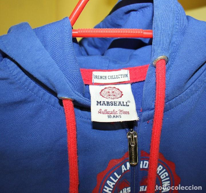 Coleccionismo deportivo: Chaqueta Marshall de chándal con capucha, talla 10 - Foto 2 - 263947525