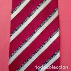 Coleccionismo deportivo: CORBATA DEL ATLETICO DE MADRID, TEJIDO DE BUENA CALIDAD, LARGO TOTAL 155CM. Lote 276271473