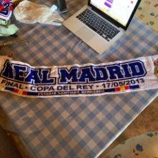 Coleccionismo deportivo: BUFANDA SCARF REAL MADRID COPA DEL REY 2013 ESTADIO SANTIAGO BERNABEU FINAL. Lote 277474538