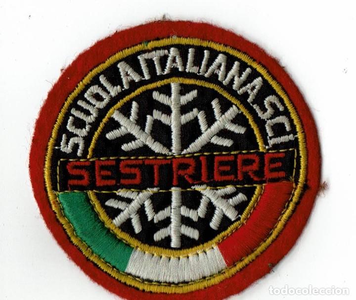 PARCHE DE TELA SESTRIERE / SCUOLA ITALIANA SCI ESTACIÓN ESQUÍ (Coleccionismo Deportivo - Ropa y Complementos - Complementos deportes)