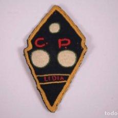 Coleccionismo deportivo: PARCHE DE TELA - CLUB PETANCA LIDIA - CONFECCIONADO A MANO 6X10,5CM. Lote 278348023
