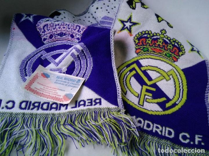 BUFANDA FÚTBOL OFICIAL REAL MADRID A ESTRENAR (Coleccionismo Deportivo - Ropa y Complementos - Complementos deportes)