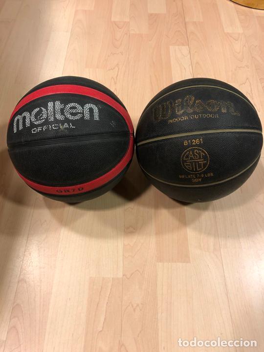 Coleccionismo deportivo: LOTE DE 2 BALONES - PELOTAS DE BALONCESTO - BASKET (WILSON MICHAEL JORDAN) - (MOLTEN) - Foto 2 - 288334533