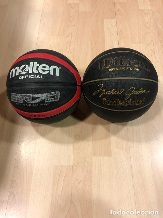 LOTE DE 2 BALONES - PELOTAS DE BALONCESTO - BASKET (WILSON MICHAEL JORDAN) - (MOLTEN) (Coleccionismo Deportivo - Ropa y Complementos - Complementos deportes)