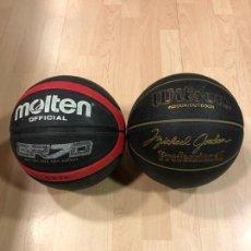 Coleccionismo deportivo: LOTE DE 2 BALONES - PELOTAS DE BALONCESTO - BASKET (WILSON MICHAEL JORDAN) - (MOLTEN). Lote 288334533
