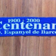 Coleccionismo deportivo: BUFANDA CENTENARIO / CENTENARIO RCD ESPANYOL / PRODUCTO OFICIAL / SCARF FOOTBALL. Lote 296012393