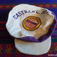 Coleccionismo deportivo: GORRA CASTILLA CF CLUB DE FÚTBOL FINAL COPA DEL REY 1979 1980 CONTRA EL REAL MADRID. RARA Y PRECIOSA. Lote 296572963