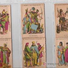 Coleccionismo Cromos antiguos: PRECIOSA COLECCION COMPLETA DE 24 CROMOS EL VESTIDO A TRAVES DE LOS SIGLOS . Lote 19702627