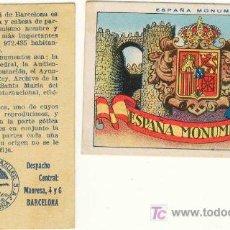 Coleccionismo Cromos antiguos: (CH-137)CROMOS ESPAÑA MONUMENTAL AÑOS 20. Lote 12245040