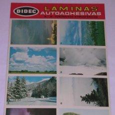 Coleccionismo Cromos antiguos: LAMINAS AUTOADHESIVAS * DIDEC * PRIMERA SERIE. Nº 26 FENOMENOS ATMOSFERICOS. Lote 29427616