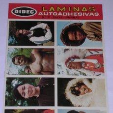 Coleccionismo Cromos antiguos: LAMINAS AUTOADHESIVAS * DIDEC * PRIMERA SERIE. Nº 37 RAZAS HUMANAS. Lote 29427674
