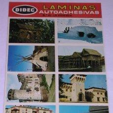 Coleccionismo Cromos antiguos: LAMINAS AUTOADHESIVAS * DIDEC * PRIMERA SERIE. Nº 45 LA VIVIENDA. Lote 29427707