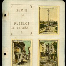 Coleccionismo Cromos antiguos: COLECCIÓN DE CROMOS DE CAJA DE CERILLAS ANTIGUAS. SERIE 9ª. PUEBLOS DE ESPAÑA.. Lote 27566486