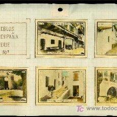 Coleccionismo Cromos antiguos: COLECCIÓN DE CROMOS DE CAJA DE CERILLAS ANTIGUAS. SERIE 10ª. PUEBLOS DE ESPAÑA.. Lote 27436044