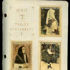 Coleccionismo Cromos antiguos: COLECCIÓN DE CROMOS DE CAJA DE CERILLAS ANTIGUAS. SERIE 7ª. TRAJES REGIONALES.. Lote 26694173