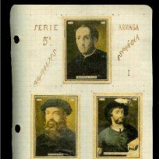 Coleccionismo Cromos antiguos: COLECCIÓN DE CROMOS DE CAJA DE CERILLAS ANTIGUAS. SERIE 5ª. ALMIRANTES ARMADA ESPAÑOLA.. Lote 26672651