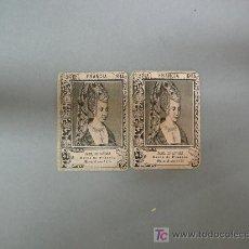 Coleccionismo Cromos antiguos: LOTE DE 2 ANTIGUOS CROMOS CAJAS DE CERILLAS SERIE 19 Nº 14 . Lote 21894681