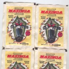 Collectionnisme Cartes à collectionner anciennes: ¡¡¡SUPER NOVEDAD!!! 4 SOBRES DE TATUAJES DE MAZINGER Z (EDITADOS EN ITALIA). Lote 222622617