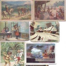 Coleccionismo Cromos antiguos: 7 CROMOS ANTIGUOS CHOCOLATES BUBI,JUNCOSA Y AMATLLÉ. Lote 24500052