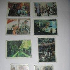 Coleccionismo Cromos antiguos: 8 CROMOS EL RETORNO DEL JEDI - STAR WARS. Lote 24689204