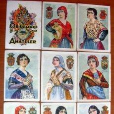Coleccionismo Cromos antiguos: TIPOS, TRAJES REGIONALES - COLECCIÓN COMPLETA 50 CROMOS - PUBLICIDAD CHOCOLATE AMATLLER. Lote 23636616