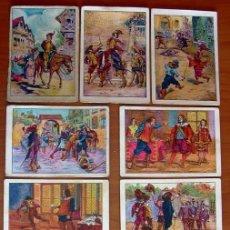 Coleccionismo Cromos antiguos: LOS TRES MOSQUETEROS - COLECCIÓN COMPLETA 50 CROMOS - PUBLICIDAD CHOCOLATE AMATLLER. Lote 24083246