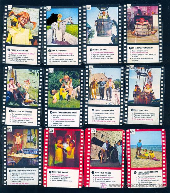 21 CARTAS CROMO DE PIPI CALZASLARGAS ( PIPPI LANGSTRUMPF ) (Coleccionismo - Cromos y Álbumes - Cromos Antiguos)
