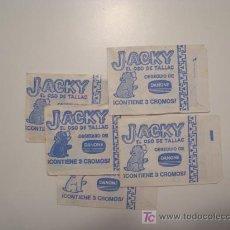 Collectionnisme Cartes à collectionner anciennes: SOBRES DE CROMOS DE JACKY EL OSO DE TALLAC (5 SOBRES) DANONE. NUEVOS.. Lote 26245525