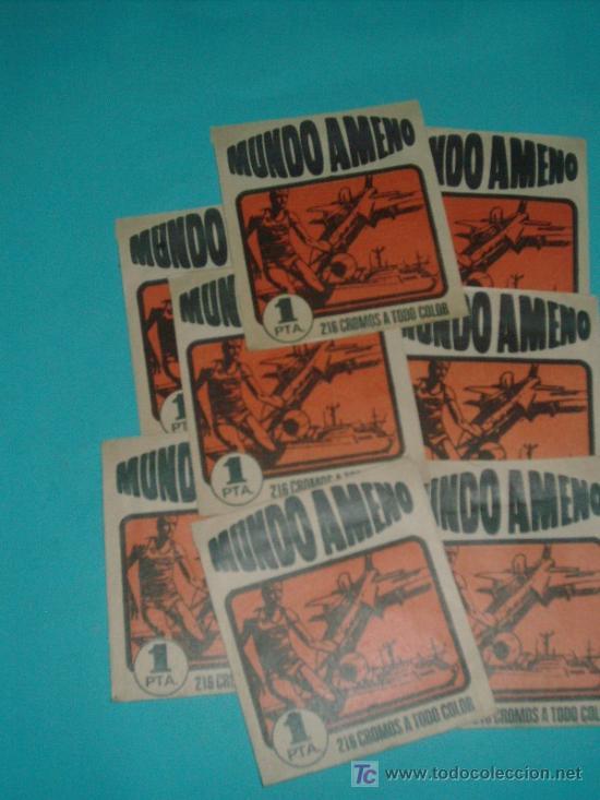 LOTE DE SOBRES MUNDO AMENO (10 ) SIN ABRIR (Coleccionismo - Cromos y Álbumes - Cromos Antiguos)