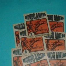 Coleccionismo Cromos antiguos: LOTE DE SOBRES MUNDO AMENO (10 ) SIN ABRIR. Lote 26822233