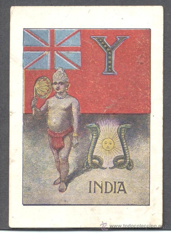 CROMO ABECEDARIO INDIA (Coleccionismo - Cromos y Álbumes - Cromos Antiguos)