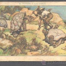 Coleccionismo Cromos antiguos: EL HOMBRE Y LAS FIERAS CAZA DEL GALAPAGO XVIII EDUARDO PI. Lote 28237658
