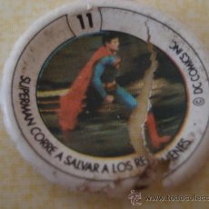 Coleccionismo Cromos antiguos: CROMO Nº 11 DE CHAPA DE COCA-COLA DE SUPERMAN. DEL ALBUM SUPERMAN II. POSIBILIDAD DE LOTES. Lote 27590940