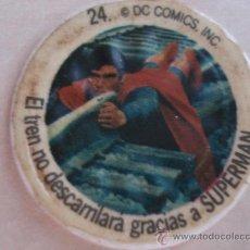Coleccionismo Cromos antiguos: CROMO Nº 24 DE CHAPA DE COCA-COLA DE SUPERMAN. DEL ALBUM SUPERMAN DEL AÑO 1978. POSIBILIDAD DE LOTES. Lote 27440890