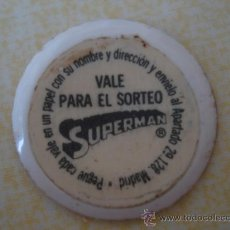 Coleccionismo Cromos antiguos: CROMO SORTEO CHAPA DE COCA-COLA DE SUPERMAN. DEL ALBUM SUPERMAN DEL AÑO 1978. POSIBILIDAD DE LOTES. Lote 27440892