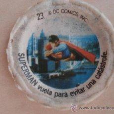 Coleccionismo Cromos antiguos: CROMO Nº 23 DE CHAPA DE COCA-COLA DE SUPERMAN. DEL ALBUM SUPERMAN DEL AÑO 1978. POSIBILIDAD DE LOTES. Lote 26929919