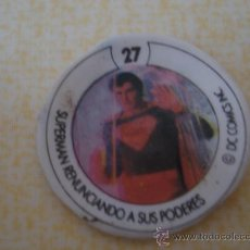 Coleccionismo Cromos antiguos: CROMO Nº 27 DE CHAPA DE COCA-COLA DE SUPERMAN. DEL ALBUM SUPERMAN II. POSIBILIDAD DE LOTES. Lote 27535335