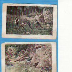Coleccionismo Cromos antiguos: 2 CROMOS D. QUIJOTE DE LA MANCHA SERIE A. CHOCOLATE AMATLLER Nº'S 22 Y 23. Lote 22119951