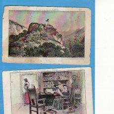 Coleccionismo Cromos antiguos: 2 CROMOS D. QUIJOTE DE LA MANCHA SERIE A Y B. CHOCOLATE AMATLLER Nº'S 24 Y 31. Lote 25113705