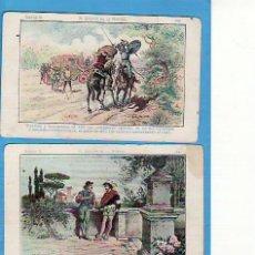 Coleccionismo Cromos antiguos: 2 CROMOS D. QUIJOTE DE LA MANCHA SERIE B. CHOCOLATE AMATLLER NO'S 32 Y 34. Lote 20826521