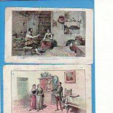 Coleccionismo Cromos antiguos: 2 CROMOS D. QUIJOTE DE LA MANCHA SERIE B. CHOCOLATE AMATLLER NO'S 55 Y 56. Lote 22014478