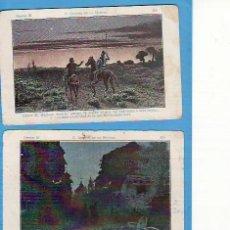 Coleccionismo Cromos antiguos: 2 CROMOS D. QUIJOTE DE LA MANCHA SERIE B. CHOCOLATE AMATLLER NO'S 58 Y 59. Lote 25212028