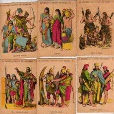 Coleccionismo Cromos antiguos: COLECCION COMPLETA DE CROMOS - EL VESTIDO A TRAVES DE LOS SIGLOS - CHOCOLATES RIERA DE BARCELONA. Lote 18832466