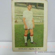 Coleccionismo Cromos antiguos: BERRUEZO SEVILLA CROMOS FHER TEMPORADA 1970 1971. Lote 19184753