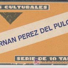 Coleccionismo Cromos antiguos: CROMOS CULTURALES BARSAL. Nº 28. HERNAN PEREZ DEL PULGAR. COLECCIÓN COMPLETA DE 10 TARJETAS. Lote 19274870