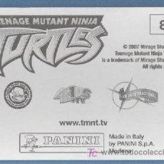 Coleccionismo Cromos antiguos: TEENAGE MUTANT NINJA TURTLES - PANINI. Lote 19364996